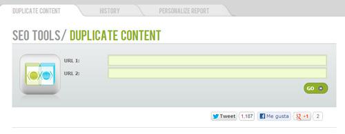 Buscar contenido duplicado con Webseo Analytics