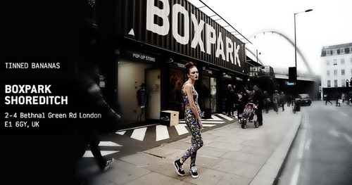Tinned Bananas at BOXPARK - go nuts! Pop-up shop