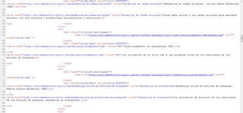 Revisión de páginas web