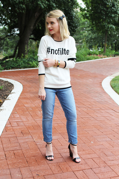Poor Little It Girl Blogger Wearing No Filter Sweatshirt