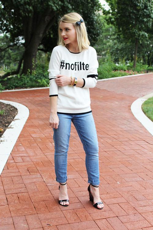 Poor Little It Girl Blogger Wearing No Filter Sweatshirt
