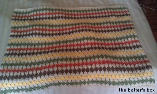 Crochet Striped Blanket | free pattern translation || the batter's box.