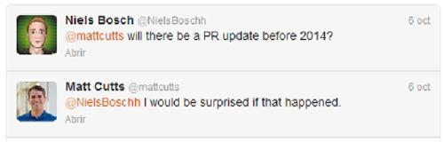 Matt Cutts en Twitter sobre el PageRank