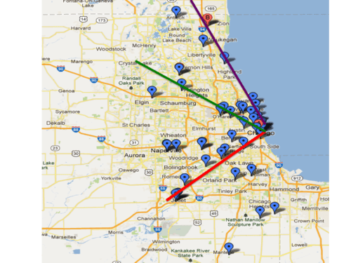 Chicago ley line map