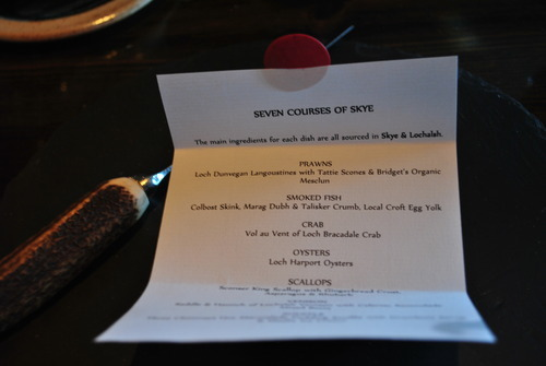 Seven courses of Skye