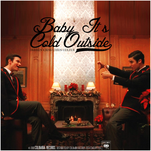 Image result for baby its cold outside glee