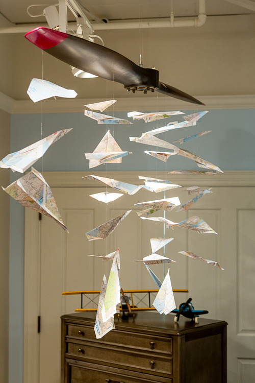 Young America Blog DIY Craft Idea Paper Plane Mobile