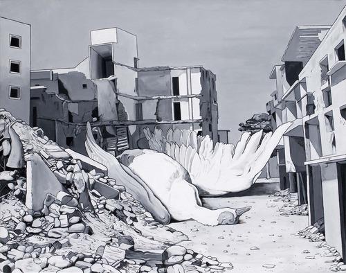 Caídos del Cielo. Beirut Blues  Acrílico sobre tela  130 x 162 cm  2012