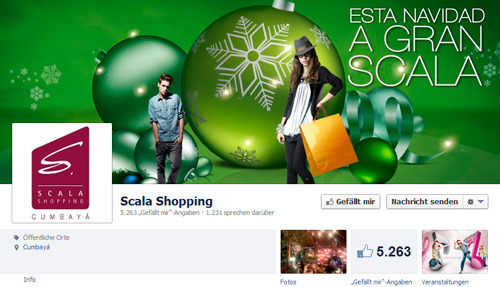 Centro Comercial Scala Shopping en Facebook