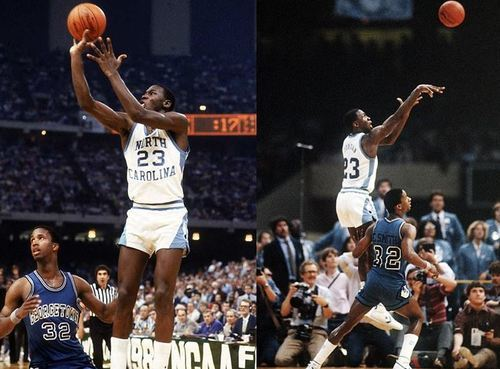 """625a4f97ff4 The 1982 NCAA Division 1 Championship Game was between the Georgetown  Hoyas, led by Patrick Ewing and Eric """"Sleepy"""" Floyd, versus the North  Carolina Tar ..."""