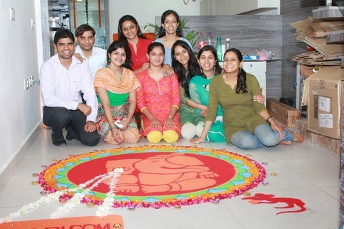 Yes we are on the floor with Rangoli