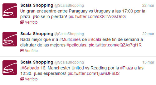 Twitter de Scala Shopping