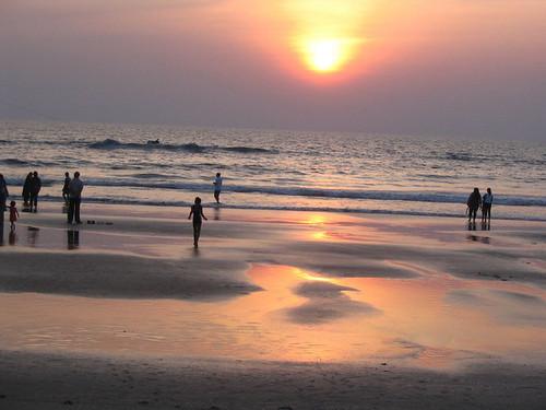 Sunset over Varca Beach