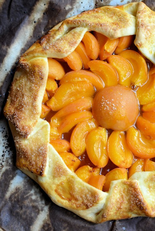 Rustic French Apricot Galette