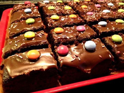 Smartie Traybake A Very Melly Bake