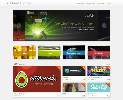 l'Airspace Store (source: Leapmotion.com)