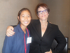 Gloria Choi and April Winchell