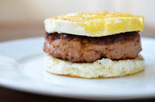 "Paleo Sausage Egg ""McMuffin"" By Michelle Tam http://nomnompaleo.com"