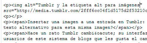 código html de Tumblr