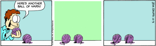 yarn ball comic