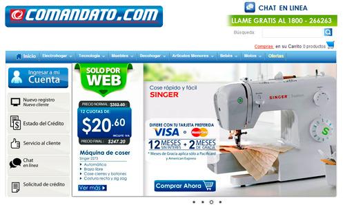 Tienda en línea para electrodomésticos en Ecuador