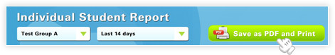 Save and print the Student's Individual Reports screenshot