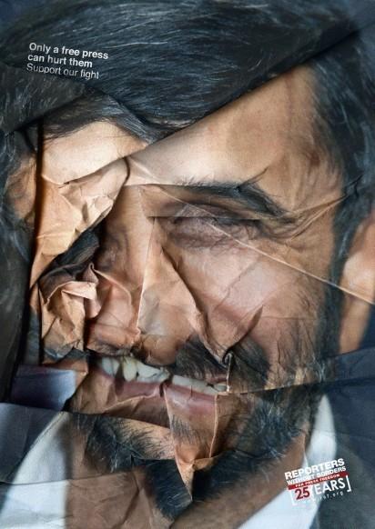 Saatchi & Saatchi Paris, Reporters without borders, Mahmud Ahmadinejad