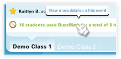 Demo classes screenshot