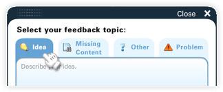 Send Feedback window screenshot