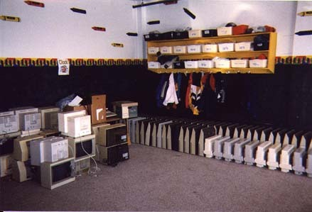 Apple IIs were donated to a West Virginia school in 1996.
