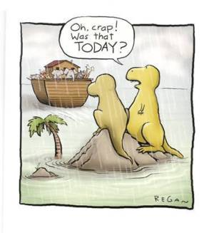 Dinosaur flood joke