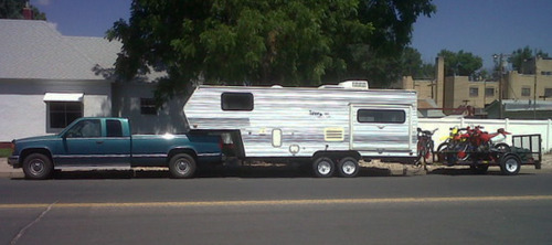 Our fifth wheel and bikes