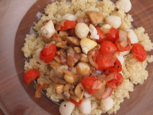 quick  easy scallop picatta recipe with quinoa  sarah fit