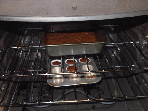 Vegan Chocolate Cake baking