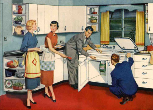 Image result for kitchen in the 50s and 60s