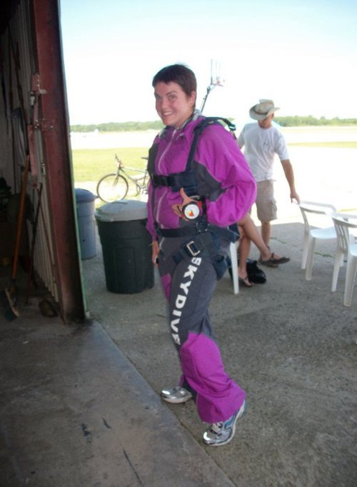 All suited up for skydiving