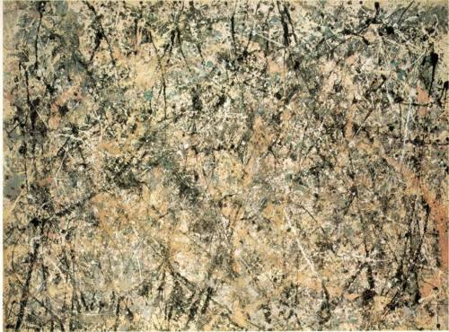 Jackson Pollock, Lavender Mist: Number 1, 1950, 1950 oil, enamel, and aluminum on canvas.  National Gallery of Art, Washington, D.C.