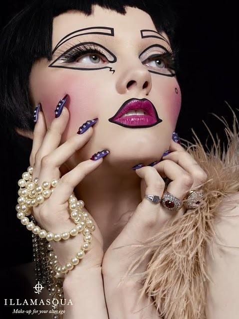 Maquiagem por Alex Box para Illmasqua