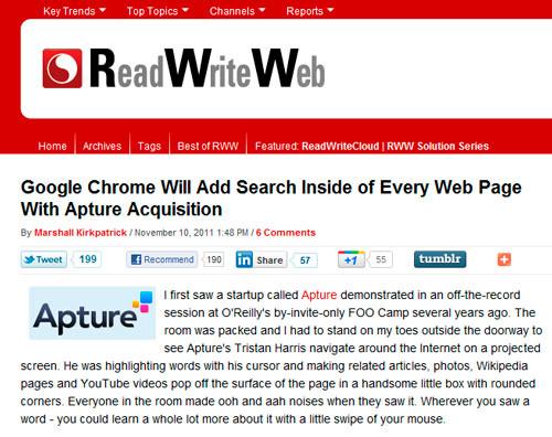 Pagina web con botón para compartir contenido en tumblr