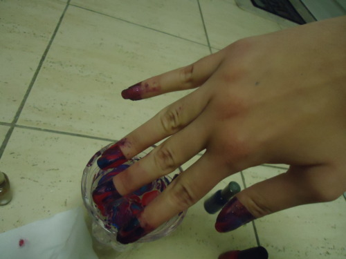 Tie-Dye For Your Nails: Water Marble Nail Art Tutorial ...