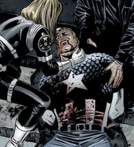 Marvel Civil War - the death of Captain America Steve Rogers