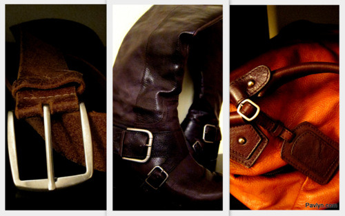 Key Equestrian Items: Brown Leather Belt, Nine West Riding Boots, Leather Messenger Bag