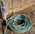 Example of rescue tape used on a hose connection