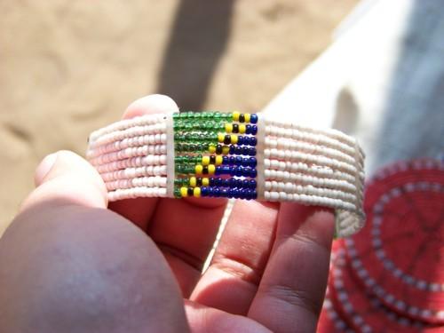 Tanzanian flag bracelet, Chidi's stall