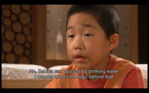 Asian boy diapers