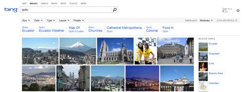Nuevo diseño de la búsqueda por fotos en Bing