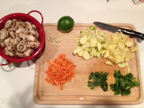 Ingredients for Lime Orzo and Veggies