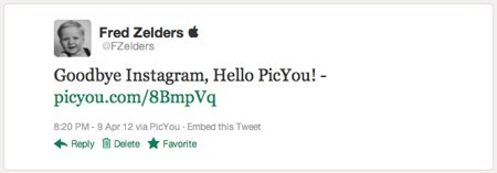 Twitter Goodbye Instagram, Hello PicYou