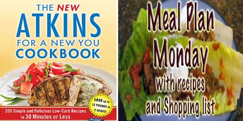 low carb weekly menu