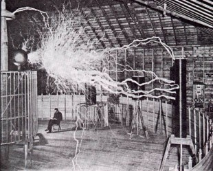 Utah State going to Nicola Tesla. He was the first proposed wireless energy transfer more than a century ago